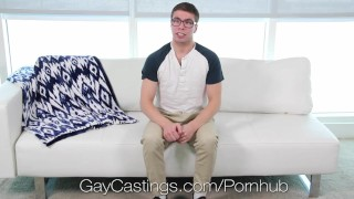 GayCastings - Devin Flare Fucked By Agent in Live Audtion Creampie cock