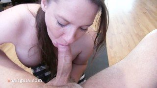Hot Brunette Mom Tries Tittyfuck The First Time And Fails :)