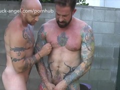 FTM Porn star Buck Angel gets fucked by Hot Tattooed Muscle Guy