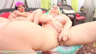 Busty Maggie Green's Big Tit BreastFest!