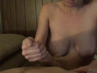 Fierce Dick Sucking With Cum Swallow From Big-Titted Girl In Silver Bikini!