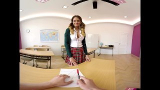 VR Bangers-360°VR Foreign exchange student FUCKED HARD on Teacher's Desk