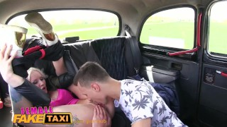 FemaleFakeTaxi Busty czech driver gets a big cock