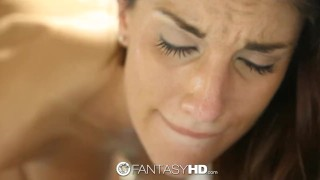 FantasyHD - August Ames sits on her mans face and dick Reality cowgirl