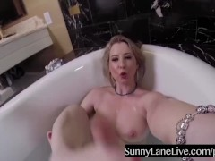 Getting Wet with Sunny Lane in the Tub