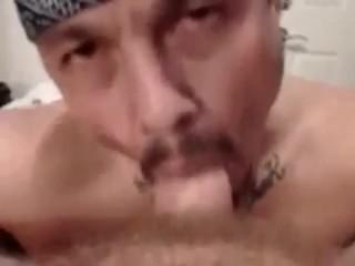 Me sucking off my straight homie