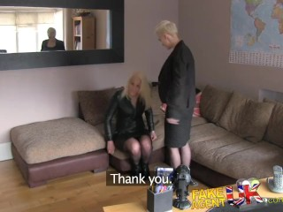 Best Real Amateur Videos FakeAgentUK Threesome with Dutch porn models