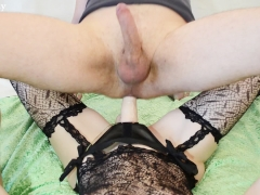 Hot Wife Fucking Guy with Strapon (PEGGING FEMDOM)