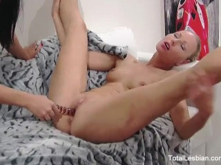 Sexy babes get down & dirty during a job interview