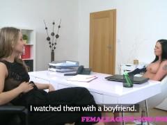 Wife masturbating watching porn