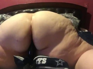 Amateurcreampies Tube Fat Bbw riding black dildo