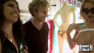 Money Talks - Bikini shopping threesome