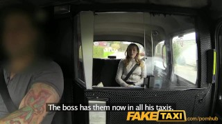 Preview 2 of FakeTaxi Cute blonde takes on big cock