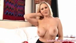 Blonde Milf Julia Ann Showing Off Her Stockings!