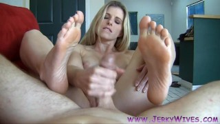 Cory ws hot ending chase blonde foot