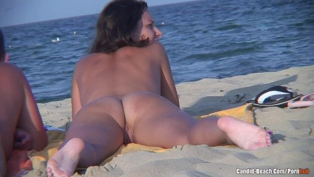 Black nudist videos - Nudist couple beach voyeur video hd