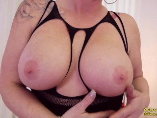 Busty Blonde Babe Loves Sucking & Swallowing Huge Cock Cougar POV Blowjob