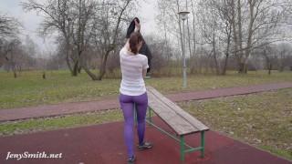 Jeny Smith - pantyhose training Deepthroat blowjob