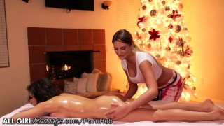 AllGirlMassage August Ames and Darcie Dolce! Yoga hd