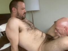 Big Bear and Grandpa Fuck in the Bedroom