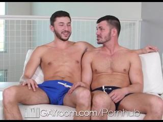 GayRoom - Muscle Buds Brogan Reed & Scott Demarco Fuck