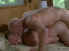 Muscle Daddy and Sexy Bear Fuck in the Bedroom