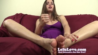 Lelu Love-Worship My Feet Legs And Asshole  homemade cbt hd foot asshole femdom cei amateur solo soles pov instruction fetish domination brunette natural tits lelu love