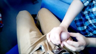 Public deep Blowjob in the train!