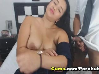 Busty Babe Sucks her Boyfriend Big Hard Cock