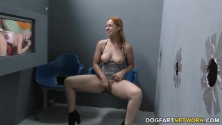 Edyn Blair suck and fucks two BBC at Gloryhole  big black cock big tits big cock hairy creampie redhead gloryhole pornstar fetish hardcore kink interracial dogfartnetwork reality glory hole