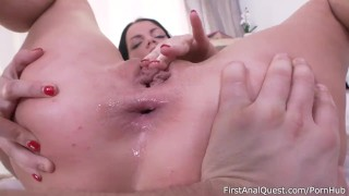 Teen a first petite anal slutty brunette quest for fellatio oral