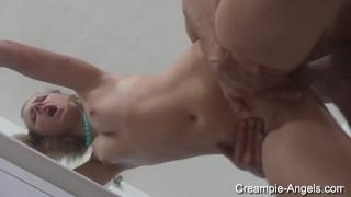 ARIA LOGAN - Creampie Dinner In 3some