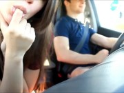 Lucky Dude Has Some Fun While Driving