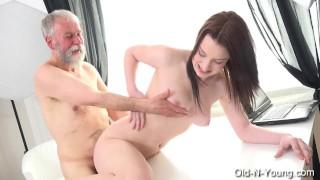 LENKA Old Guy Enjoys a Teen