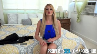 PropertySex - Vacation rental gone wrong turns into sex with busty agent  point of view real estate agent blowjob blonde cumshot propertysex missionary big dick dsl busty hardcore cowgirl hottie doggystyle facial big boobs
