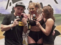 VITALY ZD AT AVN 2016 WITH PHOENIX MARIE AND KARLA KUSH INTERVIEWS