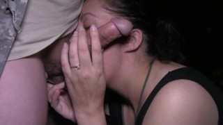 Wife BLOWS HUSBANDS BEST FRIEND