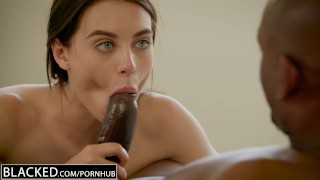 BLACKED Brunette Lana Rhoades First Big Black Cock