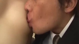 Yukino bends in doggy for a good fuck on the couch Cumshot cim