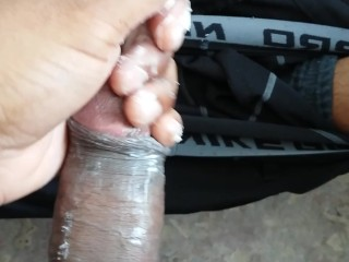 STROKING BIG TOP DICK