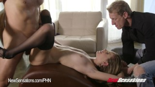 Kimmy Granger Hotwife Bound  doggy style big cock riding babe bdsm cuckold newsensations blonde blowjob small tits hardcore bound bondage stockings wife sharing tied up