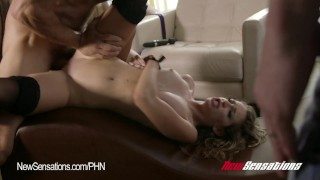 Kimmy Granger Hotwife Bound  doggy style tied up big cock riding babe bdsm cuckold newsensations blonde blowjob small tits hardcore bound bondage stockings wife sharing