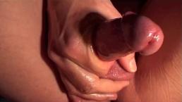 close up erotic penis massage