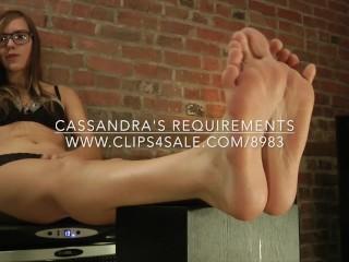 Cassandra's Requirements - www.clips4sale.com/8983/15719600