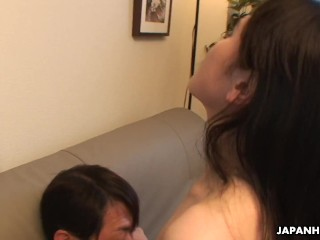 Asian wife is cheating as she grinds the cock
