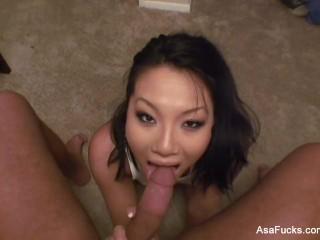 Asa akira's homemade pov blowjob