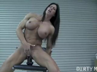 Angela Salvagno Rides A Big Dildo