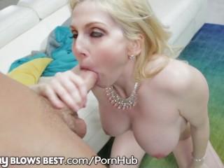 MommyBlowsBest MILF Cock Sucks Son's Friend