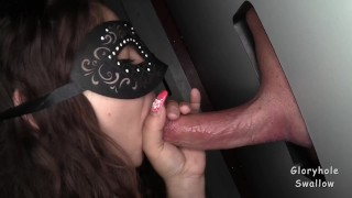 Megan at the Gloryhole  adult bookstore random sex gloryhole swallow sex shop gloryhole strangers random blowjobs glory hole cum swallow cum in mouth blowbang blowjobs huge loads butt booty mask