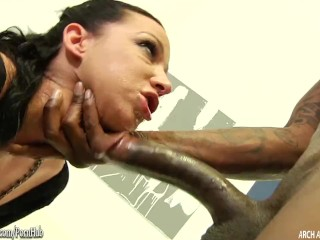 Jada Stevens taking 10 inches of black meat
